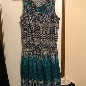 Dresses & Skirts - Faded Glory Maxi dress size 1X pretty sleeveless